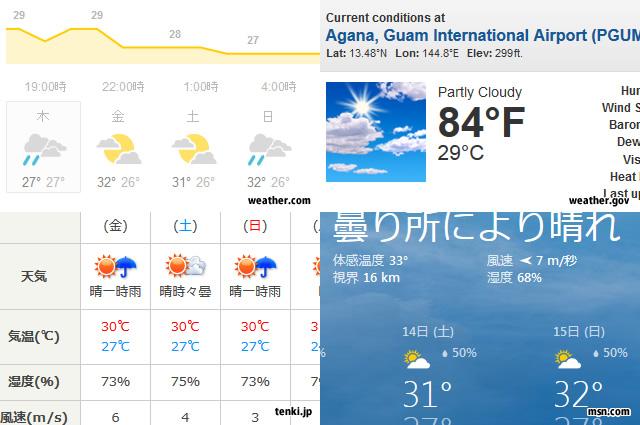 天気予報サイト(イメージ)