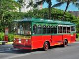 赤いシャトルバス(イメージ)